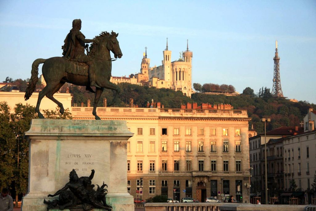 La place Bellecour de Lyon